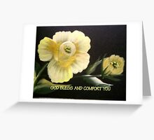 GOD BLESS AND COMFORT YOU SYMPATHY CARD Greeting Card