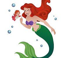 The Little Mermaids  by Redhead-K