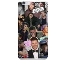 Jensen Ackles - Supernatural, Dean Winchester Collage iPhone Case/Skin