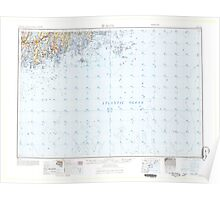 Maine USGS Historical Map Bath 460164 1965 250000 Poster