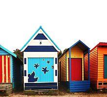Mornington Peninsula - boat sheds by Rosina  Lamberti