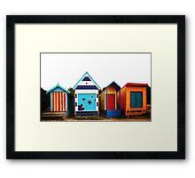 Mornington Peninsula - boat sheds Framed Print