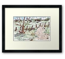 A farm gate  Framed Print