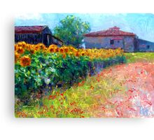 sunflower field/ after the style of Monet Metal Print