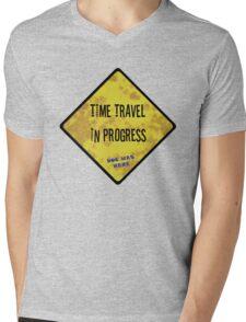 Time Travel Caution Mens V-Neck T-Shirt