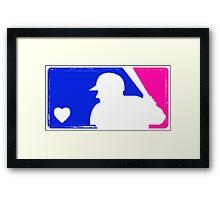 MLB Baseball Tee (Vintage) Framed Print