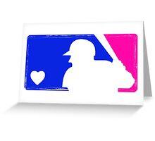 MLB Baseball Tee (Vintage) Greeting Card