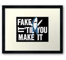 Left Shark: Fake It 'Til You Make It Framed Print