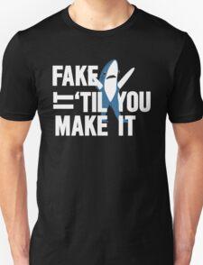 Left Shark: Fake It 'Til You Make It Unisex T-Shirt