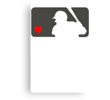 MLB Baseball Love At Night Canvas Print