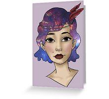 Galaxy Girl Greeting Card