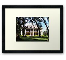 The Crown Jewel of River Road- Houmas House Plantation Framed Print
