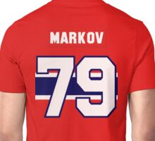Andrei Markov #79 - red jersey Unisex T-Shirt