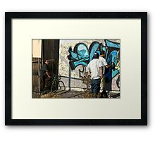 """This crew finished for today. It doesn't look """"tagged up"""".  Artists pride!  Framed Print"""
