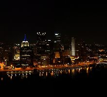 Pittsburgh Night Skyline from Mt. Washington by Mike Stanfield