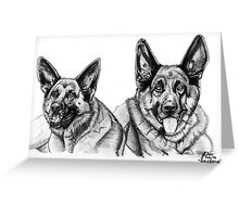 'Zoe and Bernie' Greeting Card