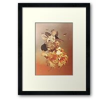 Lady in The Flower Framed Print