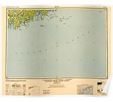 Maine USGS Historical Map Bath 806493 1948 250000 Poster