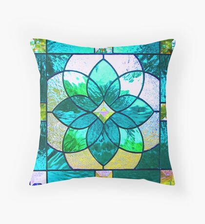 Stained Glass Realism Art Throw Pillow