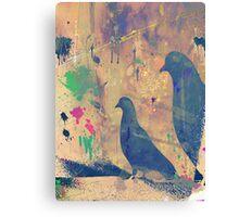 Pigeon Silhoutte 2 Canvas Print