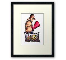 ultra street fighter ryu Framed Print