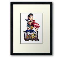 ultra street fighter sakura Framed Print