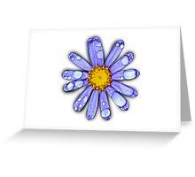 Wet Daisy Greeting Card