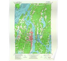 Maine USGS Historical Map Bath 806495 1980 24000 Poster