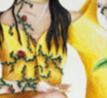 Tea on Flowers Sticker