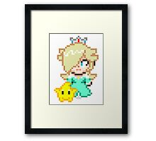 Rosalina and Luma - Smash Bros Mini Pixel Framed Print