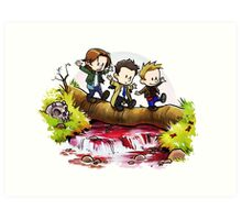 Team Free Will Goes Exploring Art Print