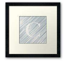 Striped C Framed Print
