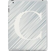 Striped C iPad Case/Skin