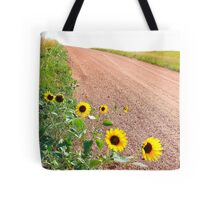 Sunflowers country road Tote Bag