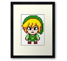 Toon Link - Smash Bros Mini Pixel Framed Print
