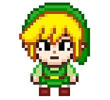 Toon Link - Smash Bros Mini Pixel Photographic Print