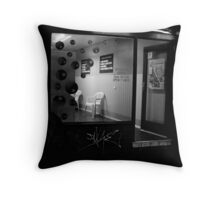 urb laundrette Throw Pillow