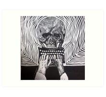 Underwood, skull, vintage typewriter Art Print