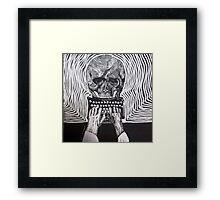 Underwood, skull, vintage typewriter Framed Print