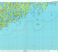 Maine USGS Historical Map Bath 807777 1985 100000 by wetdryvac