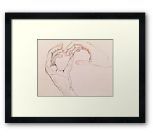 The holding of the hands Framed Print