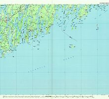 Maine USGS Historical Map Bath 807778 1985 100000 by wetdryvac