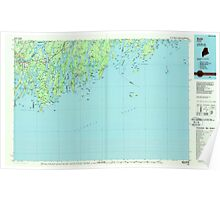 Maine USGS Historical Map Bath 807778 1985 100000 Poster