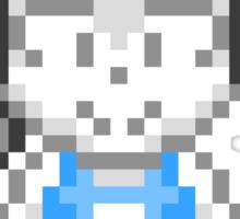 Wii Fit Trainer - Smash Bros Mini Pixel Sticker