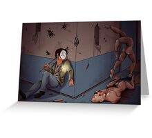 Cry in Silent Hill Greeting Card