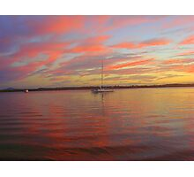 Ruby Red Sunset Photographic Print