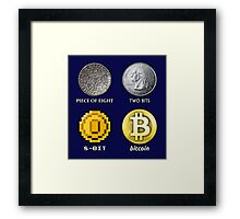 Pieces of 8-BITcoin Framed Print