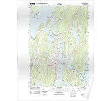 Maine USGS Historical Map Bath 20110829 TM Poster