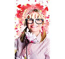 Romantic female nerd in a celebration of love Photographic Print
