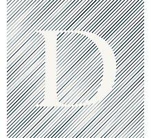 Striped D Photographic Print